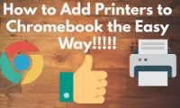 How To Add Printer To Your Chromebook