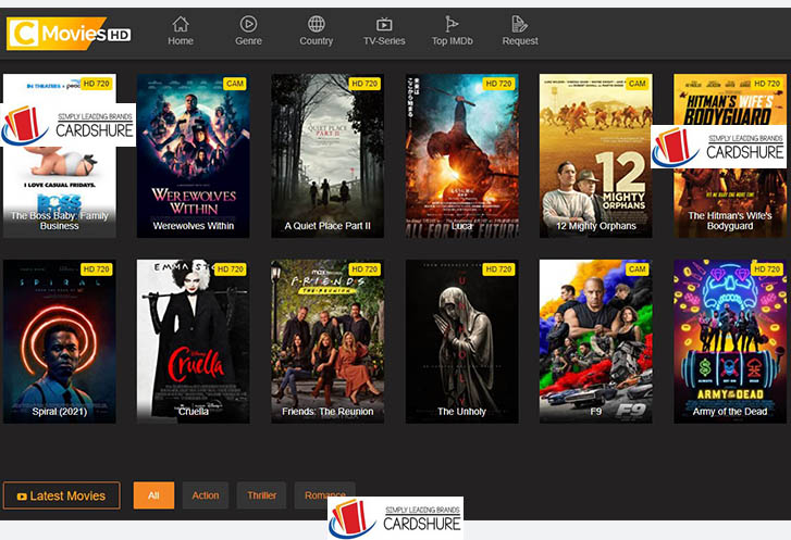 Cmovies HD - illegal Movies & Tv Series Watch and Download Website